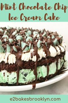 Menta Chocolate, Chocolate Ice Cream Cake, Chocolate Chip Cake, Mint Chocolate Chips, Chocolate Buttercream, Homemade Chocolate, Chocolate Cupcakes, Chocolate Ganache, Chocolate Desserts