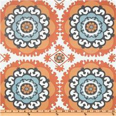bedroom valences - Annette Tatum Boho Medallion Orange