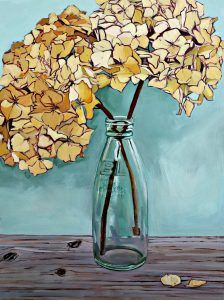 Tender Remembrance Oil on Panel #driedhydrangea