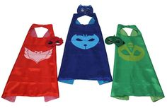 PJ Masks Costumes for kids and Adults, PJ masks birthday, PJ masks, PJ birthday party favors