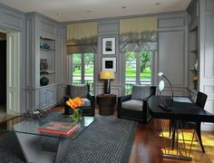 4 Bold Tips AND Tricks: Small Living Room Remodel Simple small living room remodel layout.Livingroom Remodel Grey Walls living room remodel on a budget ikea hacks. Gray Home Offices, Home Office Design, Office Designs, Grey Chaise Lounge, Top Paint Colors, Le Living, Small Living, Best Interior, Interior Design