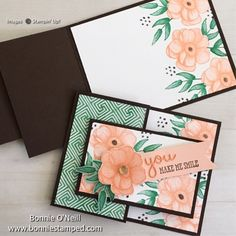 Home Shop Stampin' Up! My Events Join My Team My Galleries Contact Me About Me Painted Seasons Bundle Card by Bonnie O'Neill Fun Fold Cards, Folded Cards, Cute Cards, Carte Swing, Poppy Cards, Flower Stamp, Stamping Up Cards, Marianne Design, Card Tutorials