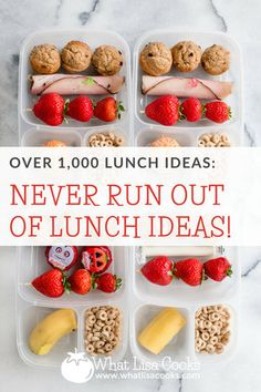All The Lunches — What Lisa Cooks