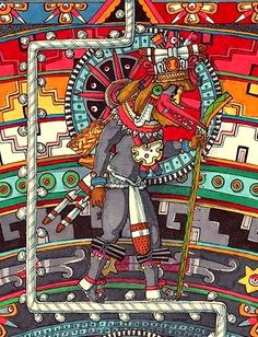 Inca Art, Aztec Empire, Native American Symbols, Mayan Symbols, Mexico Art, Aztec Art, Mesoamerican, Architecture Tattoo, Masks Art