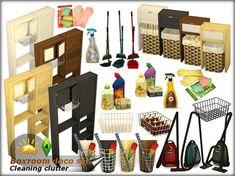 Boxroom decorative set by Solny at TSR via Sims 4 Updates