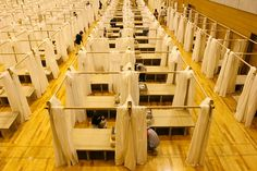 避難所用・紙の間仕切りシステム [避難所用・紙の間仕切りシステム - 熊本地震での活用 -] | 受賞対象一覧 | Good Design Award