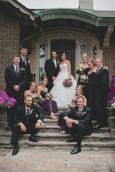 #wedding, #purple, #bouquet Wedding Bouquets, Wedding Dresses, Bridesmaid Dresses, Weddings, Purple, Flowers, Fashion, Bride Dresses, Bridesmade Dresses