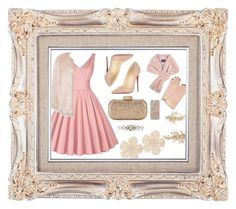 """""""Rose gold"""" by kataaaa3101 ❤ liked on Polyvore featuring Christian Louboutin, Sans Souci, Dolce&Gabbana, Monique Lhuillier, Kate Spade, Lanvin, Undercover and Brides & Hairpins"""