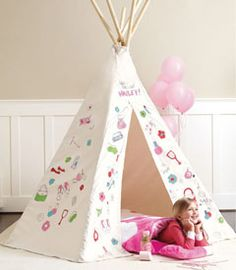 decorate your own teepee