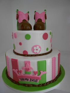 Cowgirl baby shower cake (1744)