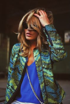 <3 bring on the color!  Love the jacket with cobalt top