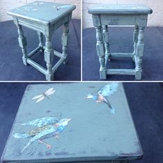 Annie Sloan Duck Egg Blue - Distressed, Waxed and Decoupage. Simply stunning!