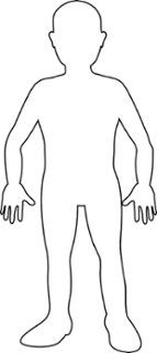 Outline Of A Human Body The Locations Of The Sensor Units On The Body The Outline Of The. Outline Of A Human Body Human Body Outline Royalty Free Vector Image Vectorstock. Outline Of A Human Body Human Body Outline In… Continue Reading → Person Outline, Body Outline, Human Body Drawing, Human Body Art, Black And White Bodies, Clipart Black And White, Drawing For Kids, Art For Kids, Body Template