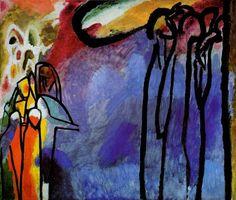 Wassily Kandinsky Improvisation 19 1911 oil and tempera on canvas 120 by 141.5 cm Stadtische Galerie im Lenbachhaus, Munich
