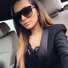 MOLNIYA Oversized Square Sunglasses Women Designer Brand Big one lens mans  black Sun Glasses female uv400 transparent Frame 2d77ed1191