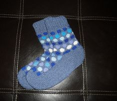 knitted bedsocks pink blue and white UK 4-7 3 pair pack Extra soft ankle