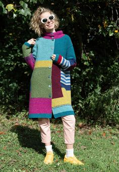 The coat made from the tweed wool yarn. pure wool (tweed) Size: S Length: Сhest Width: Hips Width: Sleeve length from shoulder: For height. Recycled Sweaters, Long Sweaters, Knitwear Fashion, Sweater Fashion, Crochet Jumper, Knit Crochet, Knit World, Pullover Mode, Knitted Poncho