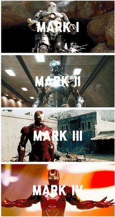 Iron Man Evolution, and perfection ; Iron Man Armor, Iron Man Suit, Iron Man 3, Marvel Heroes, Marvel Avengers, Marvel Comics, Iron Man Movie, Stark Industries, Iron Man Captain America