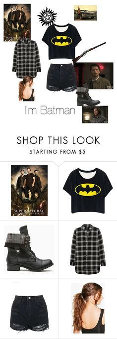 """I'm Batman"" by fangirl-24 on Polyvore featuring RIFLE, Madewell, Topshop and Boohoo"