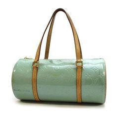 Louis Vuitton Bedford Monogram Vernis Handle bags Blue Patent Leather M91007