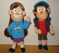 Gravity Falls dolls (Found here: http://rebekkadraws.tumblr.com/tagged/gf-figurines)