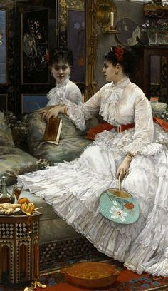 "Jules Emile Saintin ""Reflections"" 1875"