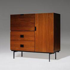 For sale: Pastoe CU01 Teak Cabinet by Cees Braakman, 1950s Vintage Designs, Teak, 1950s, Objects, Cabinet, Bedroom, Storage, Modern, Furniture