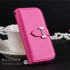 Fashionable Pink Designer Phone Cover Hermes Galaxy S4 Wallet Cases   | Apple iPhone6S Cases