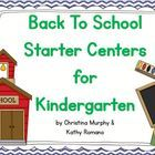 Teaching Kindergarten can be a challenge, especially at the beginning of the year.  I wanted some centers that were super easy but still taught a s...