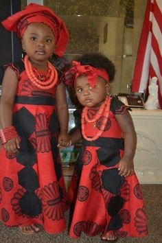 Kids in African attire