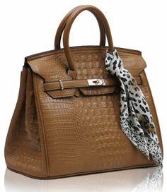 Red Mock Croc Animal Leopard Scarf Tote Designer Handbag with PreciousBags Dust Bag x Wholesale Designer Handbags, Beautiful Handbags, Hermes Birkin, Fashion Handbags, Crocs, Leather Shoulder Bag, Satchel, Tote Bag, Purses