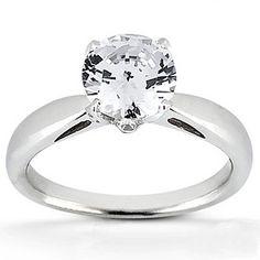 Bead Set Head Diamond Engagement Ring