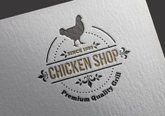 Chicken Shop logo vector template for download. AI and EPS File (editable and scalable design)
