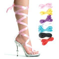 d420c6eaef6 Inch Sexy High Heel Shoe Womens Evening Shoes Metallic Heel With 7  Interchangable Ribbons