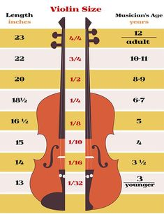 sizing charts for string instrument - Google Search