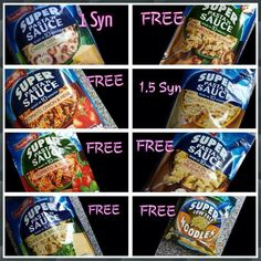Super noodles and pasta syns Slimming World Noodles, Slimming World Quick Meals, Slimming World Syns List, Slimming World Vegetarian Recipes, Slimming World Syn Values, Slimming World Diet Plan, Slimming World Treats, Slimming World Free, Slimming Recipes