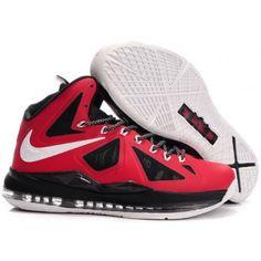 buy popular 536d8 b9724 Nike Lebron 10 Red Varsity Black White G07023