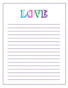 Mrsstanfordsclassspot this adorable unit comes packed with block letter love lined paper printable i love this letter template this and other printable letter paper and to do list templates available to print spiritdancerdesigns Image collections