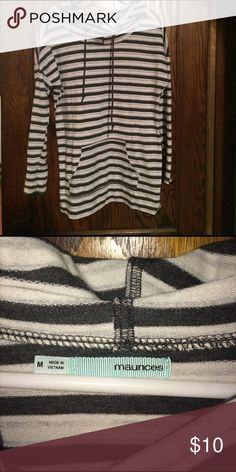 Striped cowl neck sweater! Cute, striped cowl neck sweater! Worn a handful of times! Maurices Tops Sweatshirts & Hoodies