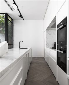 Open Plan Kitchen Living Room, Home Decor Kitchen, Interior Design Kitchen, Bathroom Interior, Home Kitchens, Modern Kitchens, Kitchen Reno, Küchen Design, House Design