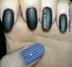 Placebo Song to Say Goodbye Nails Nail Art