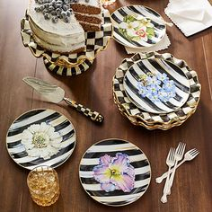 Thistle & Bee Collection: There's been quite a buzz about our take on formal china. Handcrafted in Portugal, Thistle & Bee features radiant blooms, suitea of honeybees, wildflowers, and bold Courtly Checks®️ and Stripes, all rendered in vibrant decals and trimmed in gold lustre. Fine enough for the fanciest of occasions, but so sweet you'll want to use it for an everyday treat.