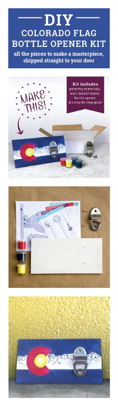 DIY Colorado Flag Wall Mount Bottle Opener Kit All the parts to make this project, shipped straight to you!