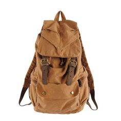 """Leather Trimmed Waxed Canvas Backpack, School Backpack, Travel Backpack 1005 Model Number: 1005 Dimensions: 12.6""""L..."""