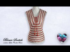 "Concours ! Blouse Scotich crochet ""Lidia Crochet Tricot"" - YouTube Lidia Crochet Tricot, Crochet Videos, Couture, Crafts, Handmade, Beautiful, Fashion, Leaf Template, Crochet Leaf Patterns"