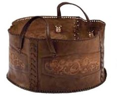 leather basket by guida