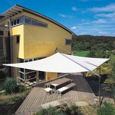 The customised installation of a Sun Square retractable awning will offer a stunning architectural element to provide shade in large areas. If you have a balcony, roof terrace or. Pergola Curtains, Pergola Swing, Cheap Pergola, Pergola Shade, Pergola Kits, Mosquito Curtains, Pergola Attached To House, Pergola With Roof, Patio Roof