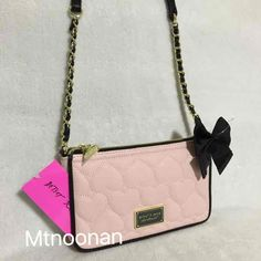 NWT Betsey Johnson New York E/W Pink Cross Body… ($40) is on sale on Mercari, check it out!
