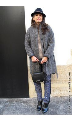 Coatpeople manteau laine gris chiné #coatpeople #manteau #coat #laine #wool…