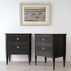 Bespoke Stockholm Made Gustavian Bedside Chests - Decorative Collective Bespoke Furniture, Luxury Furniture, Antique Furniture, Painted Furniture, Distressed Furniture, Antiques Online, Selling Antiques, Bedside Chest, Bedside Tables